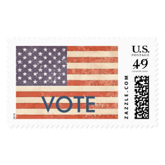 Election Postage Stamp Vote American Flag