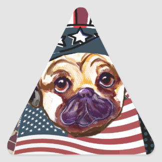 ELECTION PUG STICKERS