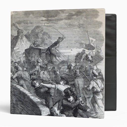 Election Riot at Hawick Vinyl Binder