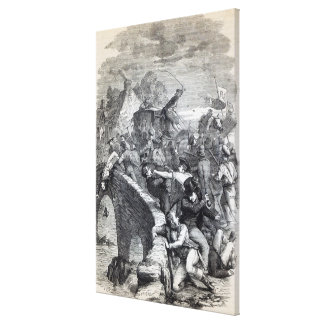 Election Riot at Hawick Canvas Print