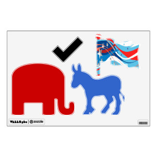 Election Symbols Wall Decal