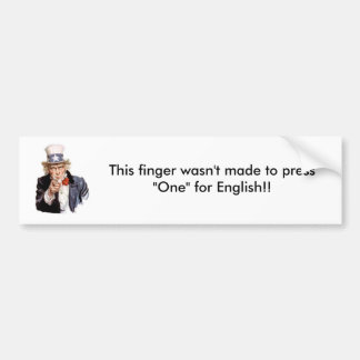 Election/Uncle Sam Bumper Sticker