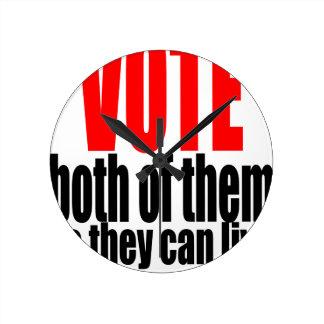 election vote hillary trump marriage president 201 round clock