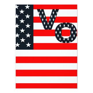 election vote republican elephant USA flag Card