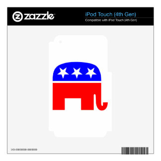 election vote republican elephant USA flag iPod Touch 4G Decal