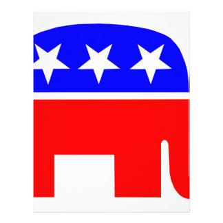 election vote republican elephant USA flag Letterhead