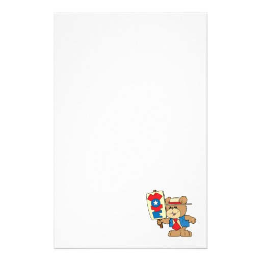 election VOTE teddy bear design Custom Stationery