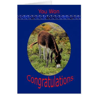 Election Win Congratulations with Donkey Card