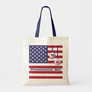 Election Year Political Parties Christmas Tote Bag