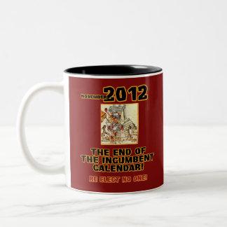 Elections 2012: End of the Incumbent Calendar Two-Tone Coffee Mug