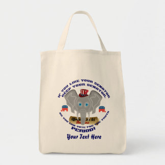 Elections 2015-2016 vote tote bag