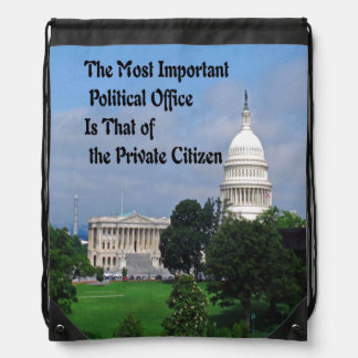 Elections Drawstring Backpack