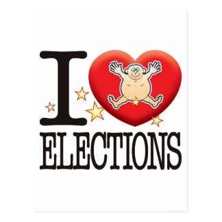 Elections Love Man Postcard