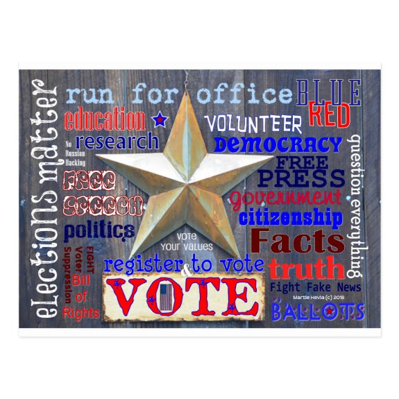 Elections Matter Vote   Blue Beach Song™ Postcard