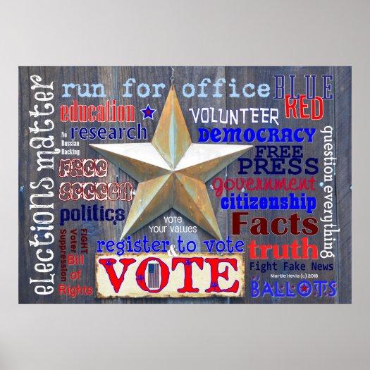 Elections Matter. Vote! WordArt™ Poster