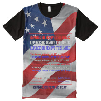 Elections Men's Pick Size ADD your Photo All-Over-Print T-Shirt