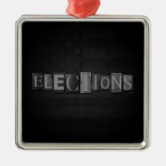 Elections Metal Ornament