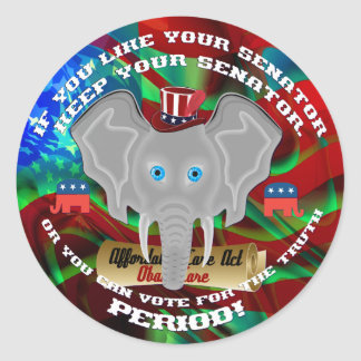 Elections Republican Classic Round Sticker