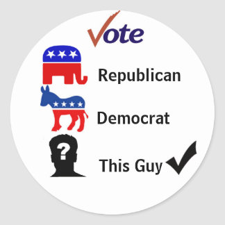 Elections - Vote Wisely Classic Round Sticker