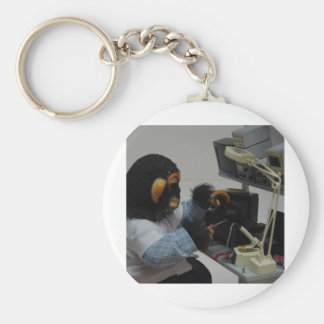 electonics camera technician basic round button keychain