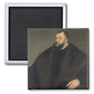 Elector Johann Freidrich ven Sachsen , 1550-51 2 Inch Square Magnet