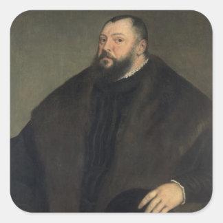 Elector Johann Freidrich ven Sachsen , 1550-51 Square Sticker