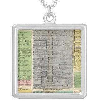 Electoral and Sovereign Houses  of Germany Square Pendant Necklace