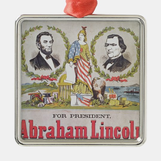 Electoral campaign poster for the Union Metal Ornament