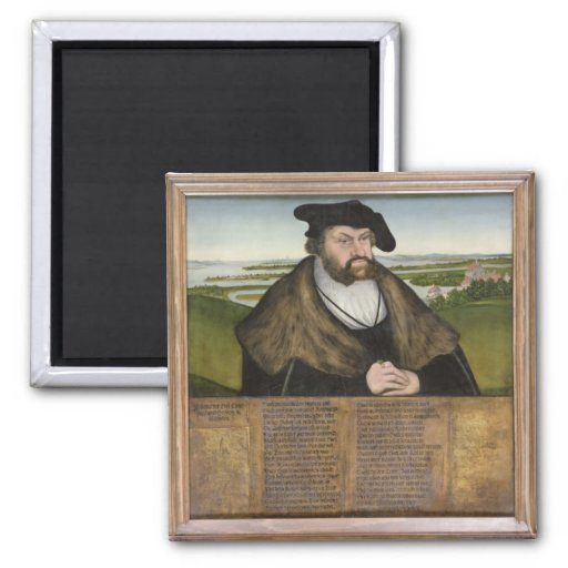 Electors of Saxony 2 Inch Square Magnet