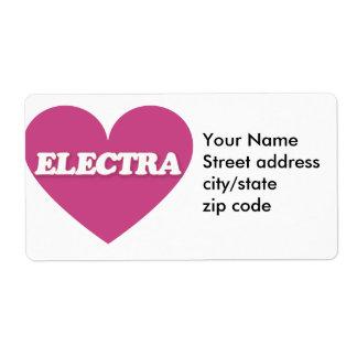 Electra lindo etiqueta de envío