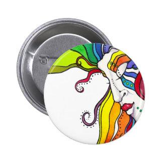 Electra Pop Art Diva Pinback Buttons