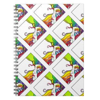 Electra Pop Art Diva Spiral Notebook
