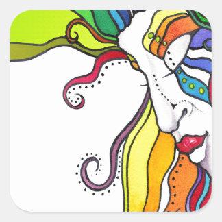 Electra Pop Art Diva Square Sticker