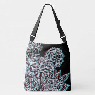 electric 3D mandala unisex bag