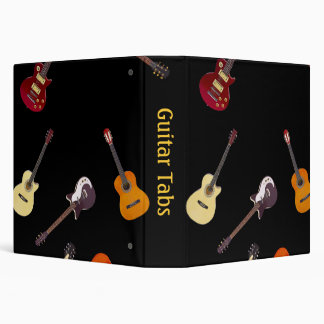 Electric & Acoustic Guitar Collage Binder