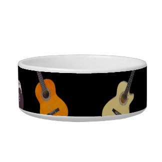 Electric & Acoustic Guitar Collage Bowl