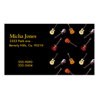 Electric & Acoustic Guitar Collage Double-Sided Standard Business Cards (Pack Of 100)