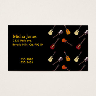 Electric & Acoustic Guitar Collage Business Card