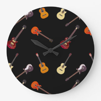 Electric Acoustic Guitar Collage Wallclock