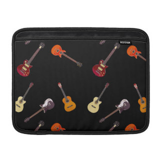 Electric & Acoustic Guitar Collage MacBook Sleeve