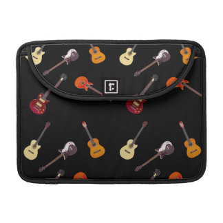 Electric & Acoustic Guitar Collage Sleeve For MacBooks