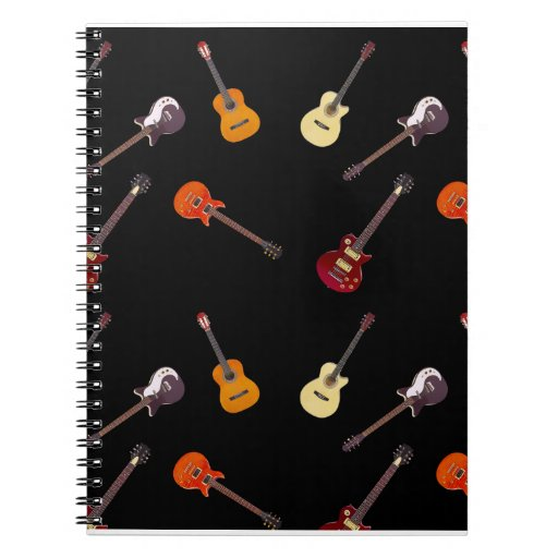 Electric & Acoustic Guitar Collage Spiral Notebooks