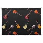 Electric & Acoustic Guitar Collage Place Mat