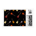 Electric & Acoustic Guitar Collage Postage