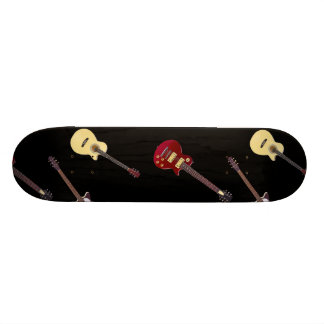 Electric & Acoustic Guitar Collage Skateboard Deck