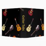 Electric & Acoustic Guitar Collage Vinyl Binders