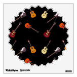 Electric & Acoustic Guitar Collage Wall Skin
