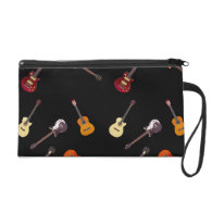 Electric & Acoustic Guitar Collage Wristlets