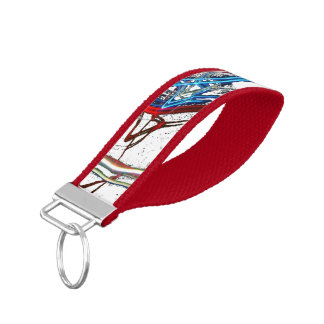 Electric American Design Wrist Keychain