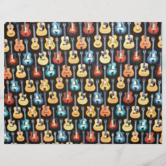 Electric and Acoustic Guitars Scrapbook Letterhead